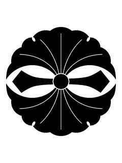 二つ剣銀杏紋の携帯待受