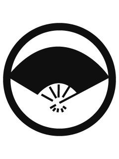 丸に五本骨扇紋