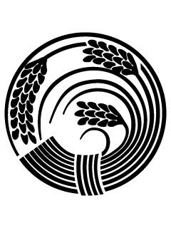 稲の丸紋の携帯待受
