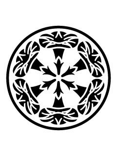 糸輪に六ツ朝顔紋