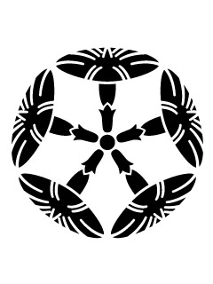 五ツ朝顔紋