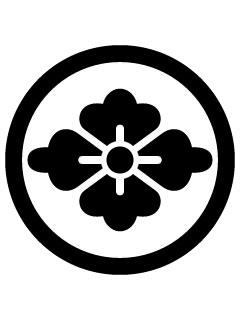 丸に花菱紋の携帯待受