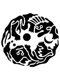 向かい獅子の丸紋