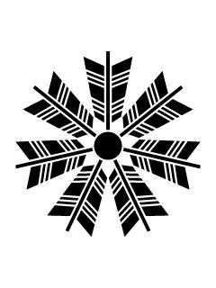 七つ矢車紋