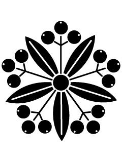 南天車紋の携帯待受