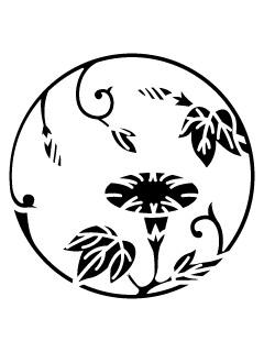 竹丸ニ朝顔紋